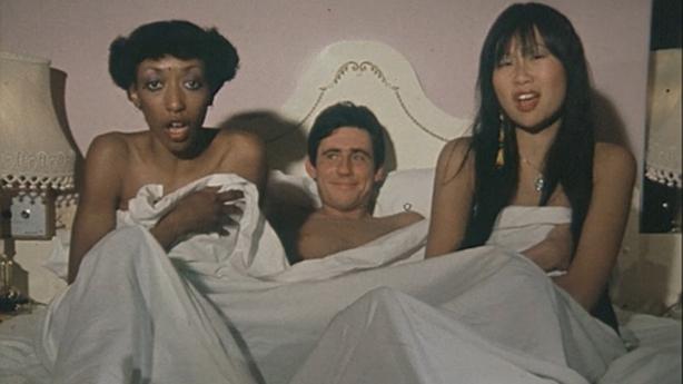 Pandora Moore, Gabriel Byrne and May Pang