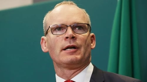 Simon Coveney criticised the British government's Internal Market Bill which would allow ministers to break international law