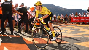 Primoz Roglic is in charge in France