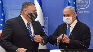 US Secretary of State Mike Pompeo (L) and Israeli Prime Minister Benjamin Netanyahu