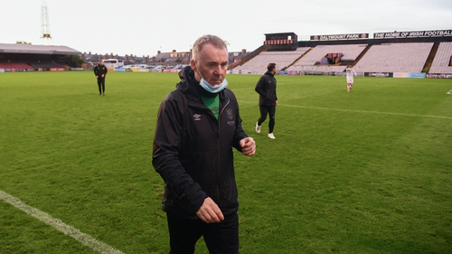 John Sheridan leaves the pitch after Waterford's win at Dalymount Park