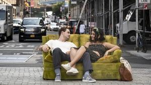 Sofa so good: Dacre Montgomery and Geraldine Viswanathan