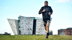 Stephen Scullion on a training run in Belfast earlier this year