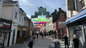 Overhead art work has been installed on some Waterford streets