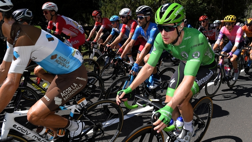 Sam Bennett lost ground at the top of the green jersey standings