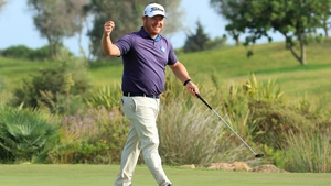 George Coetzee celebrates his win