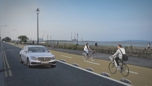 A picture showing how the cycle path in Sandymount would look