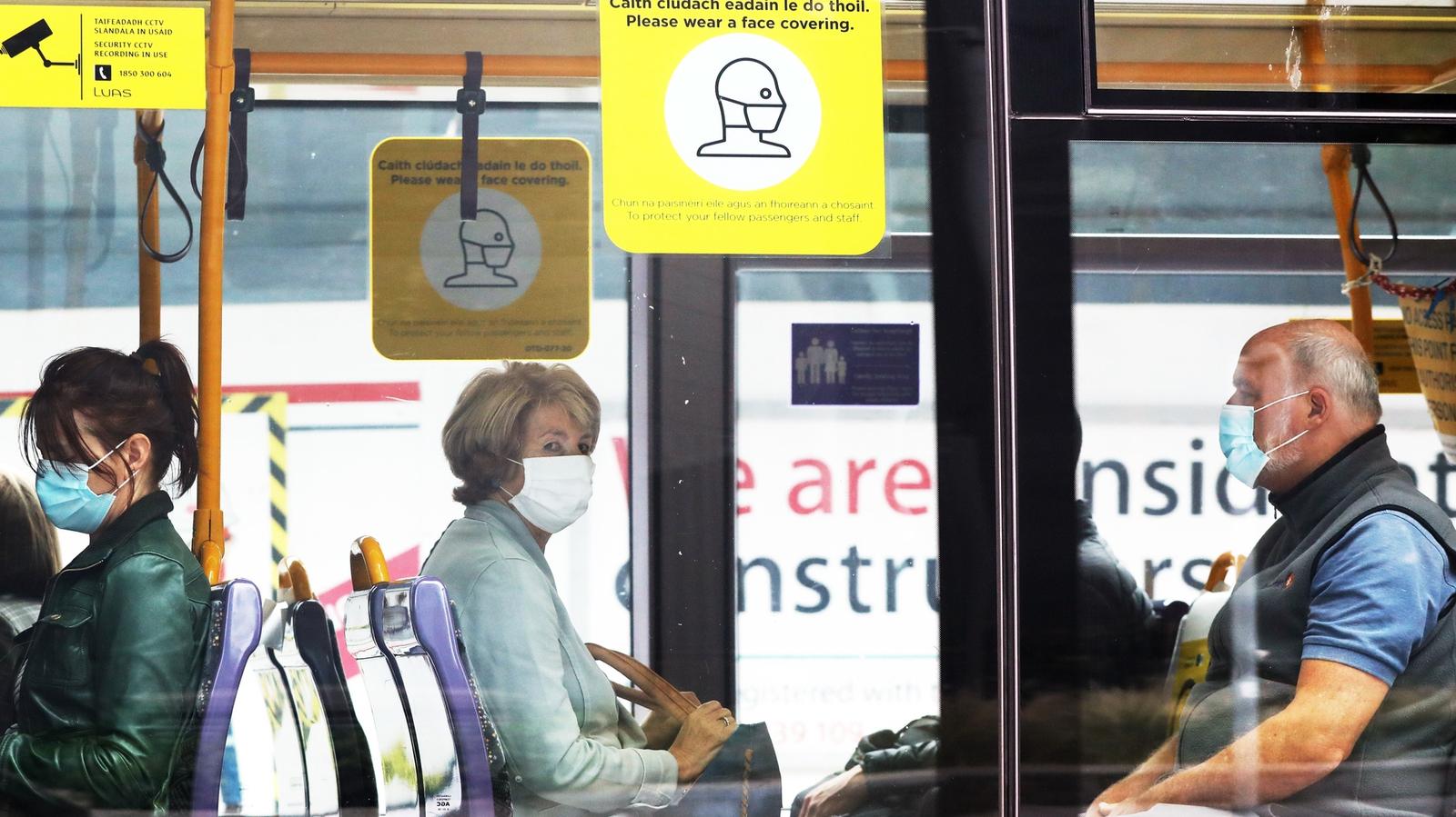 Image - Commuters wearing mandatory face-masks on public transport