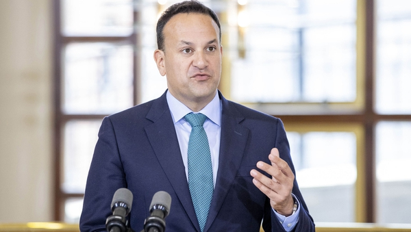 Leo Varadkar said he was filming a video when the smoothie was thrown at him