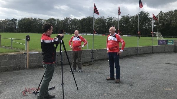 Drumcliffe Rosses Point PRO Austin O'Callaghan captures the views of stalwart supporters Jimmy Currid and Jim Kerrigan