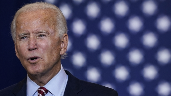 Joe Biden tweeted that any trade deal must be contingent on respect for the agreement