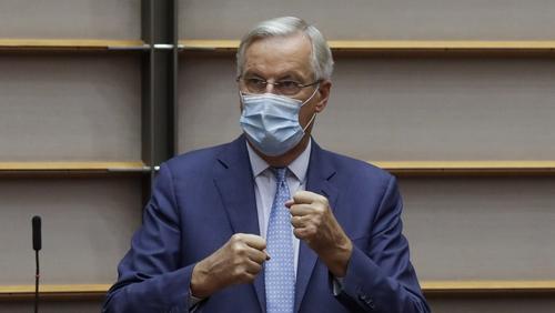Michel Barnier met ambassadors from 27 member states this morning