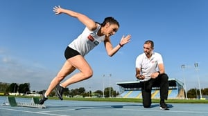 Phil Healy, and her coach, Shane McCormack, pictured at the final call for nominations for the 2020 Federation of Irish Sport Volunteers in Sport Awards supported by EBS