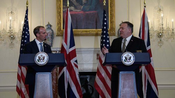 Dominic Raab and Mike Pompeo met for talks in Washingon