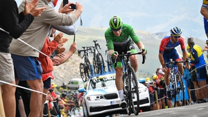 With four stages remaining, Sam Bennett holds a 47 point lead in the race for the green jersey