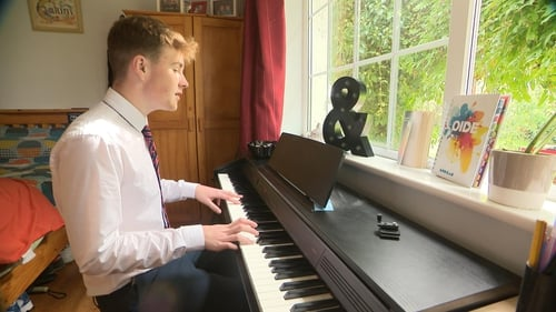 Calum Agnew produced the song 'Crazy' when his school was closed because of thepandemic