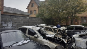 Five cars have been burned out following the fire