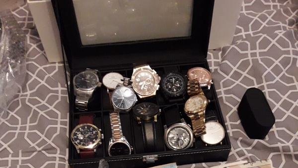 The operation also resulted in the seizure of euro and sterling cash and twelve designer watches