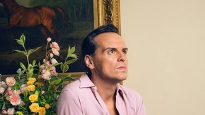 Andrew Scott as Lord Merlin. All pictures: the BBC
