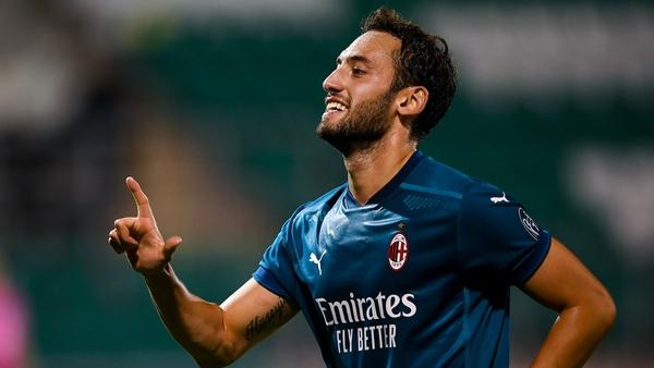 Hakan Çalhanoglu got Milan's second goal