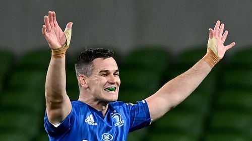 Jonathan Sexton at the final whistle of the Guinness Pro14 Final