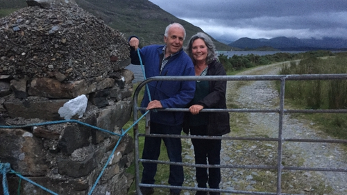 Art Ó'Briain with his wife Nuala