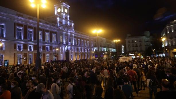 Protest Madrid Spain
