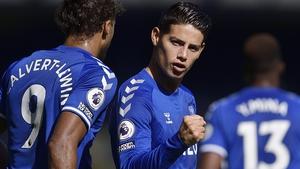 James Rodriguez will miss Everton's season opener
