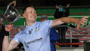Na Piarsaigh captain William O'Donoghue lifts the Daly Cup