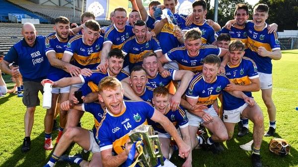 Kiladangan captain Paul Flynn and team-mates celebrate their county title success