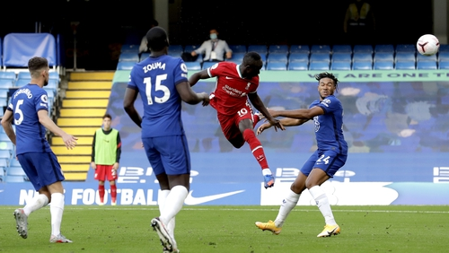 Sadio Mane scores his first of the afternoon