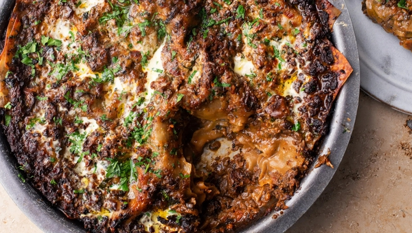 What could be more autumnal than a mushroom lasagne packed with chilli?