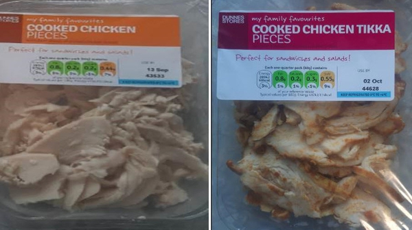 Consumers are advised not to eat the affected products
