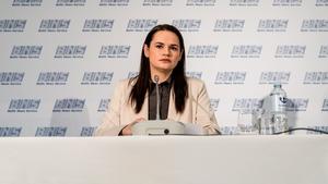 Svetlana Tikhanovskaya has urged the EU to step up its support for her movement