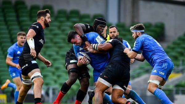 Maro Itoje gets to grips with James Ryan