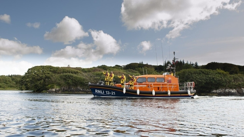 Clifden RNLI (above) were tasked alongside the Shannon-based Coast Guard Rescue 115 helicopter (file pic)