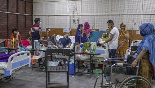 A makeshift Covid-19 ward in Bangladesh