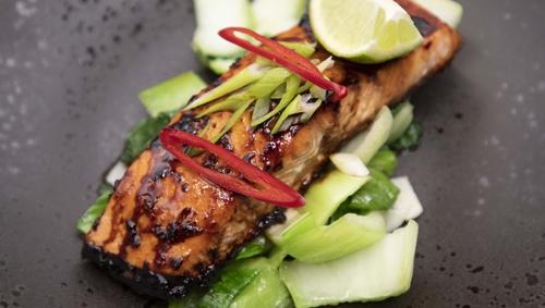Eunice Power's roast teriyaki salmon