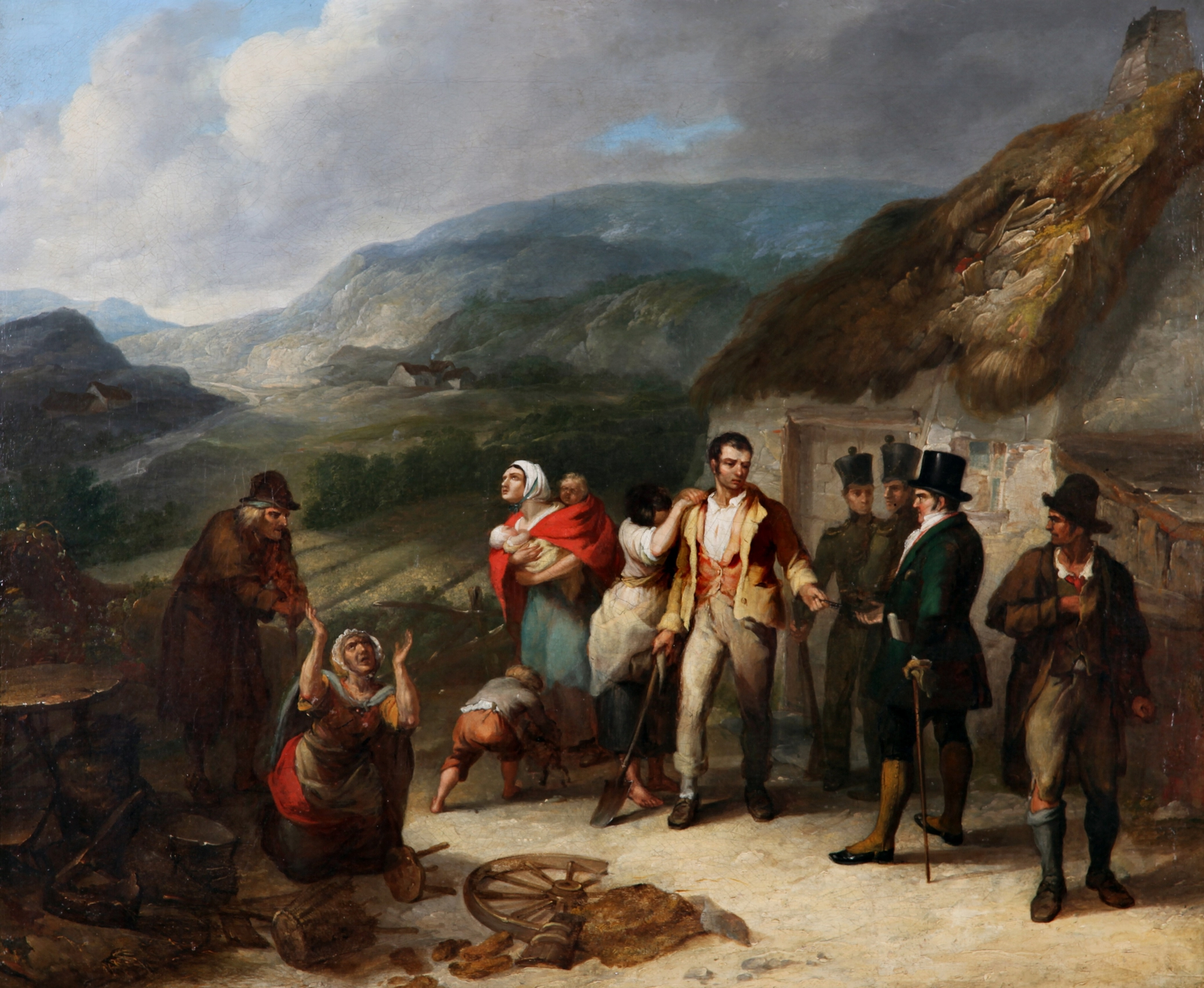 Image - Daniel Macdonald's painting The Eviction, (c.1850). From the collection Crawford Art Gallery, Cork.