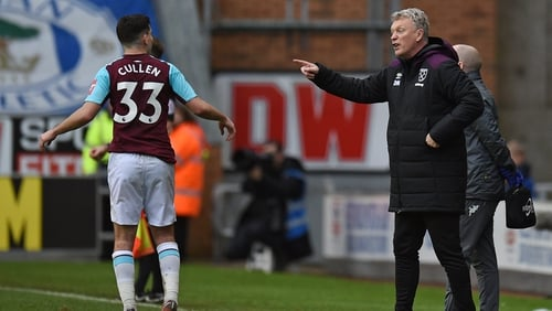 Josh Cullen and West Ham manager David Moyes