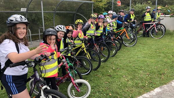 Many pupils at Scoil Mhuire National School in Clarinbridge cycle to school