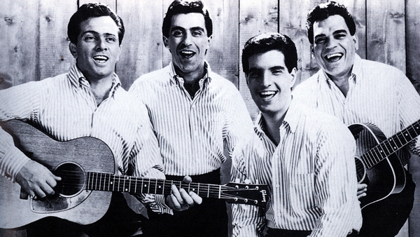 Tommy DeVito, Frankie Valli, Bob Gaudio and Nick Massi of The Four Seasons