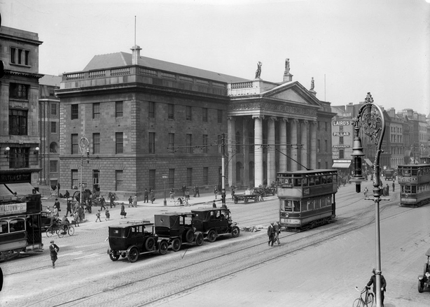 Dublin's General Post Office c.1920. The building was destroyed in 1916 Photo: RTÉ Archives 0510/071