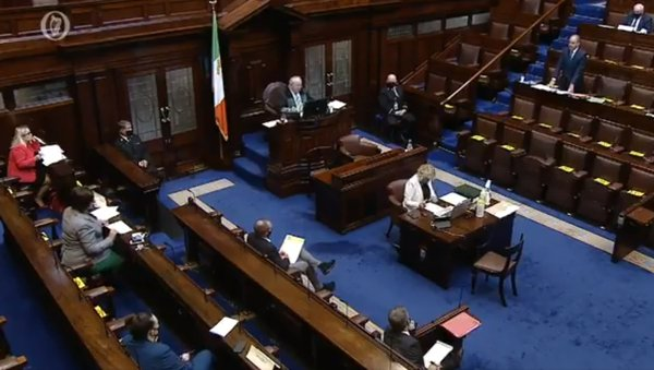 There were heated exchanges in the Dáil today