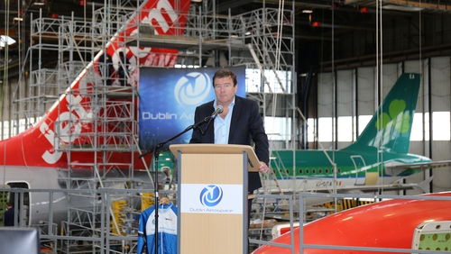 Conor McCarthy, Dublin Aerospace chairman and CEO at this morning's announcement