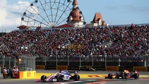 The 2019 Russian Grand Prix at the Sochi Autodrom circuit