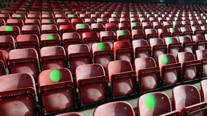 Socially-distanced seating marked out at League Two Walsall's Banks' Stadium