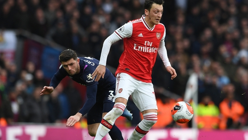 Mesut Ozil's last competitve outing for Arsenal came against West Ham in March