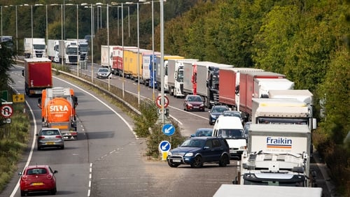 Lorries transiting between EU and the UK may still not be ready for the new border controls come 1 January