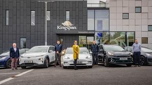 Kingspan employees Kevin O'Grady, Emmet Carolan, Ciara Maddock, Kevin McCarthy and John Neary